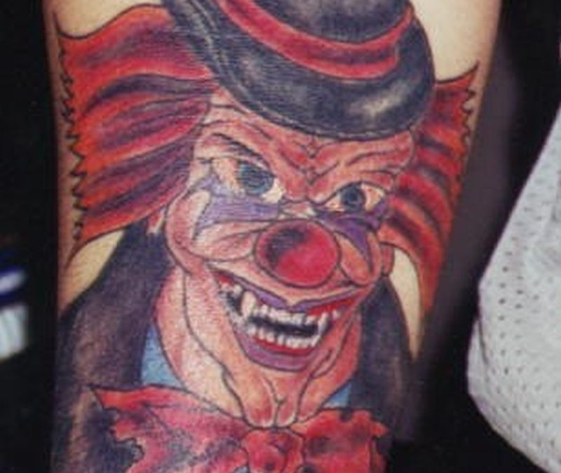 Joker clown with hat design tattoo