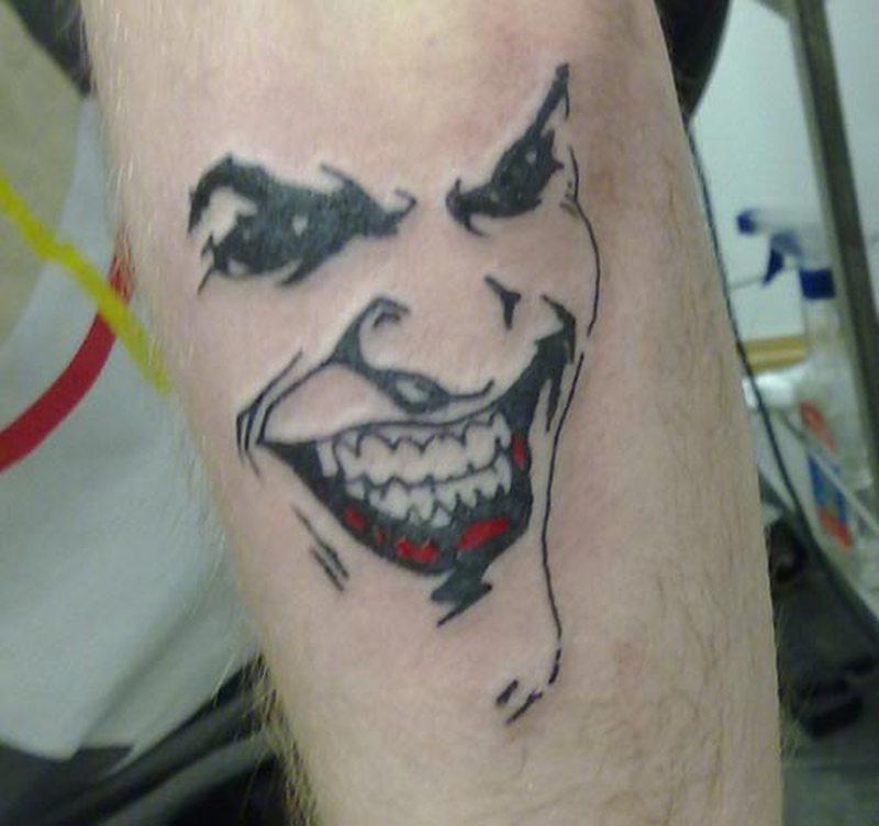 Joker face tattoo art 2