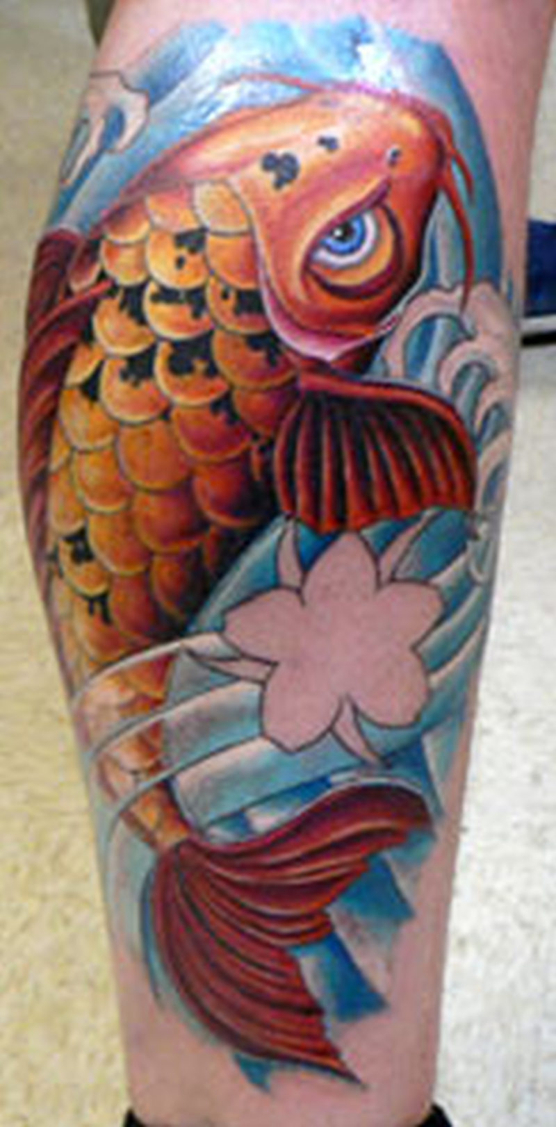 Koi Fish Asian Leg Design Tattoo Tattoos Book 65 000 Tattoos Designs
