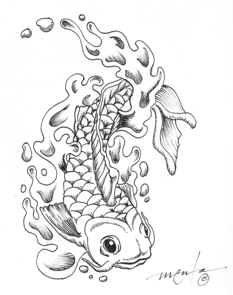 koi fish tattoo flash 2 tattoos book tattoos designs. Black Bedroom Furniture Sets. Home Design Ideas