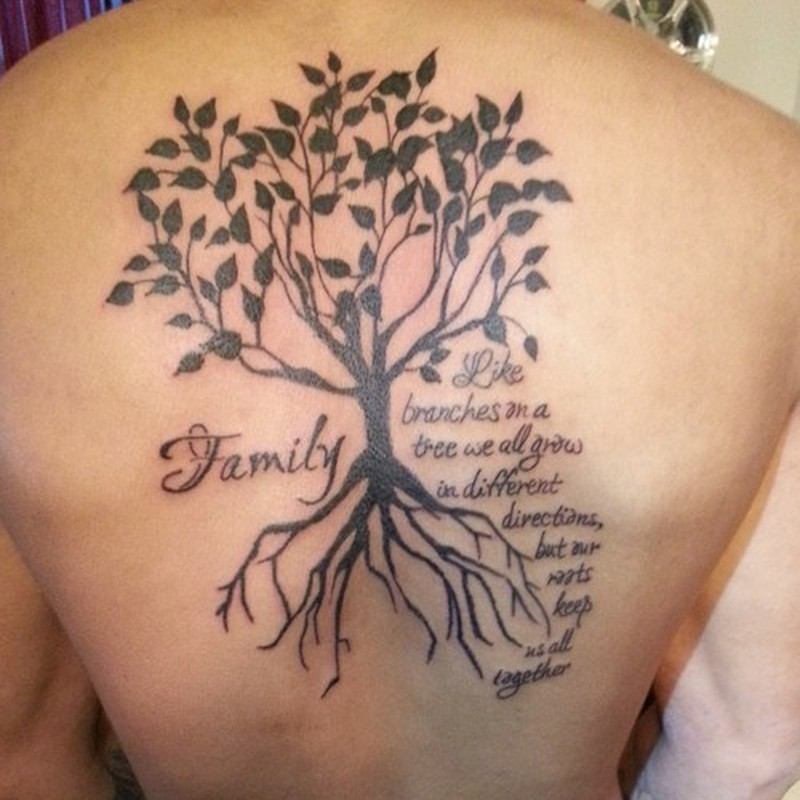 Large Family Tree Tattoo On Back Tattoos Book 65 000 Tattoos Designs