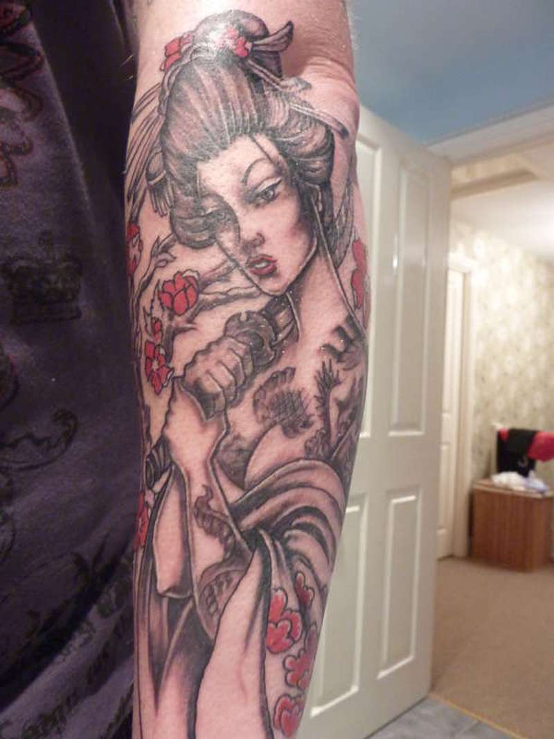 Latest addition of japanese tattoo