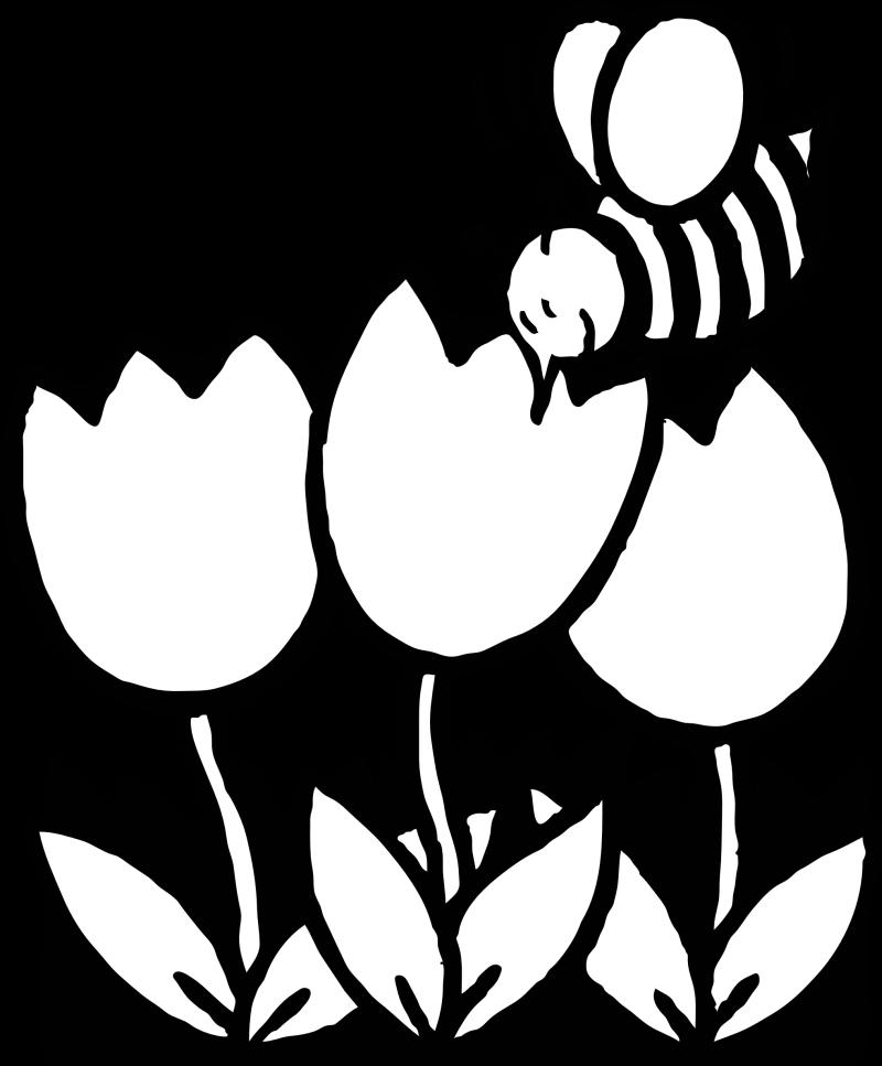 Line art bee tattoo design