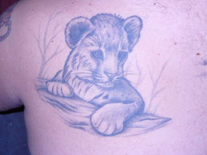 Lion baby tattoo design