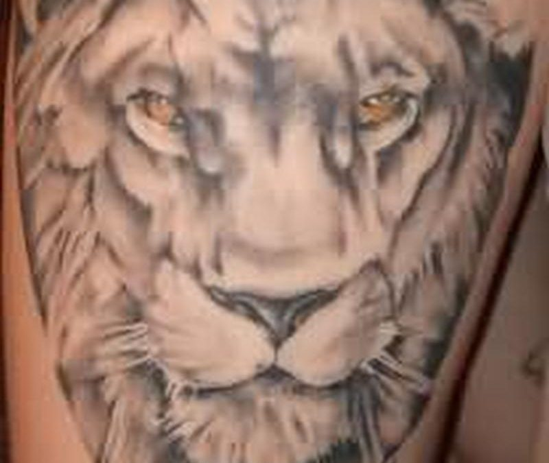 Lion extreme tattoo