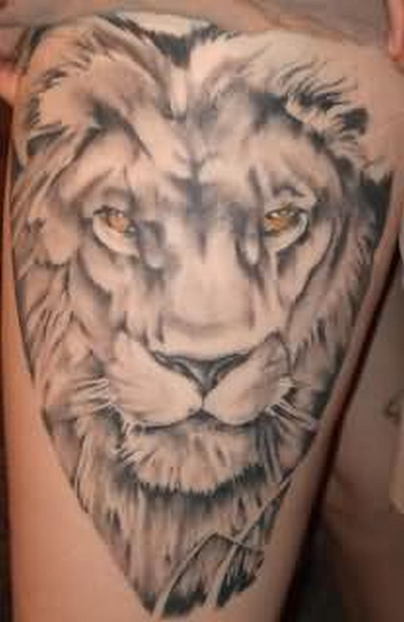 Lion extreme tattoo