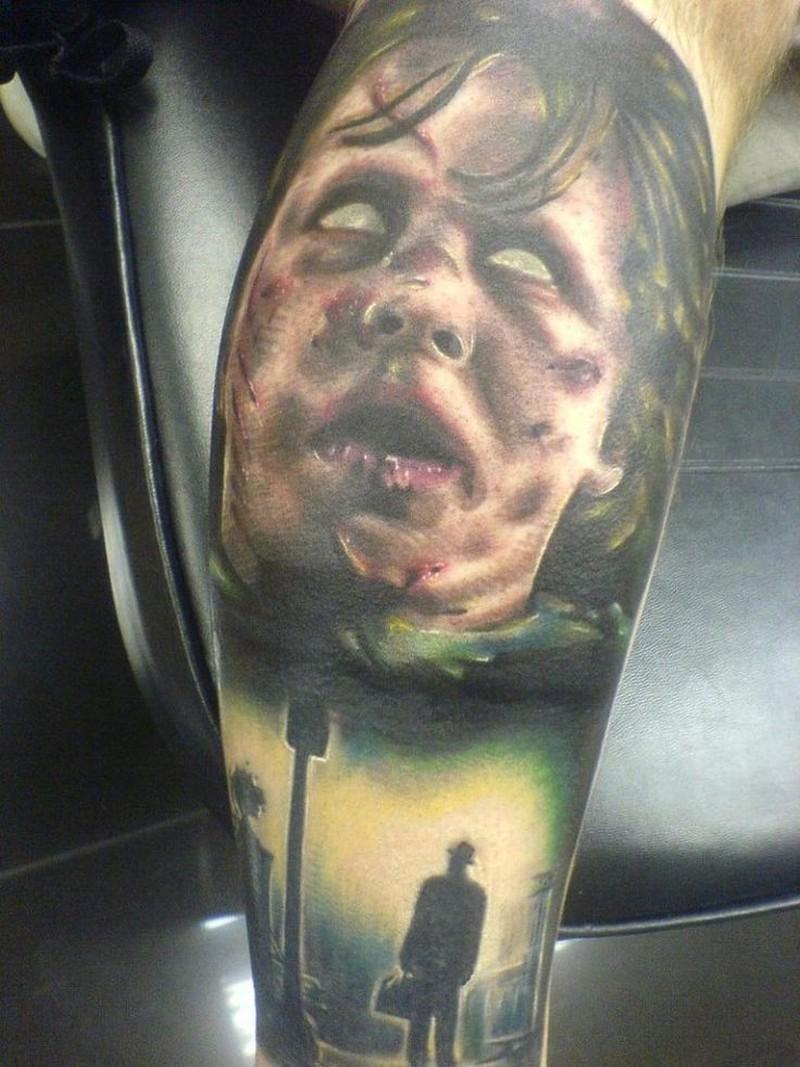 Living dead movie horror tattoo