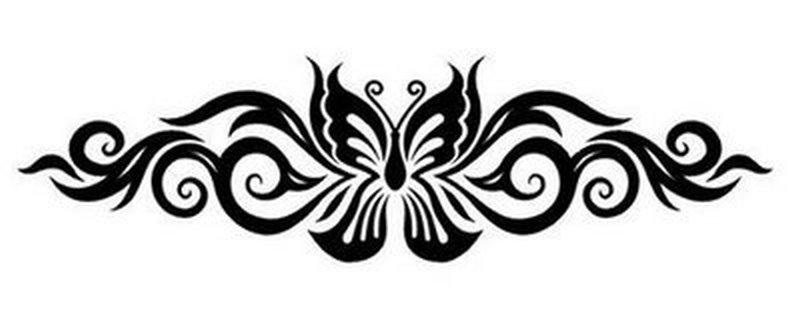 f5900fd46076f Lower back butterfly tattoo design 2 - Tattoos Book - 65.000 Tattoos ...