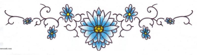 Lower back daisy tattoo designs