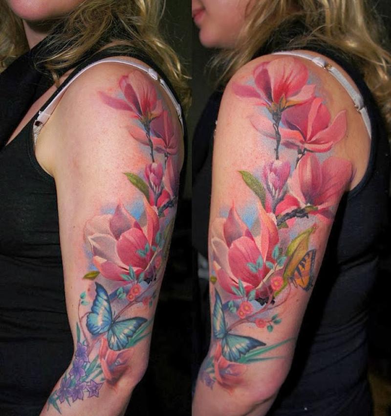 Magnolia Flowers Added By Grimmyd D5u076t Tattoo Tattoos Book