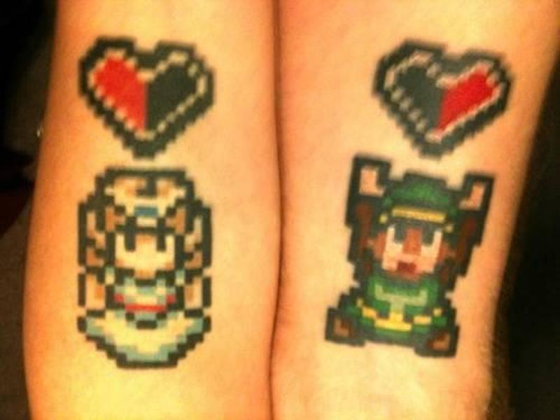 Married couple gets matching zelda tattoo