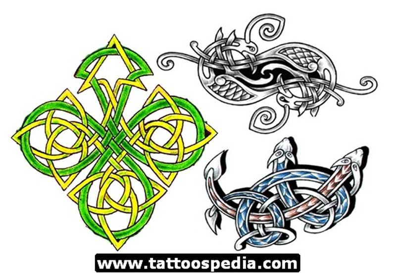 Marvelous celtic design tattoo