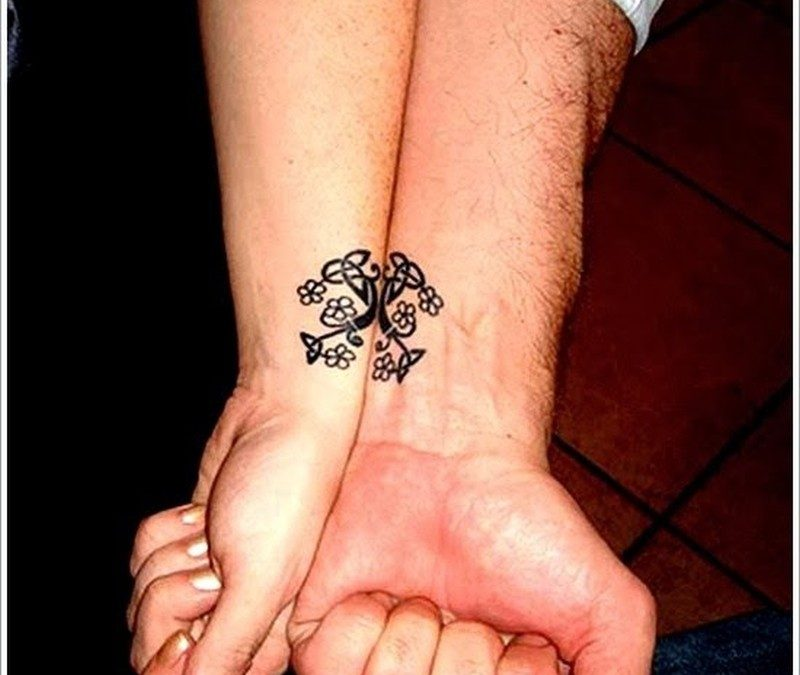 Matching Tattoo ideas For Couples on hand