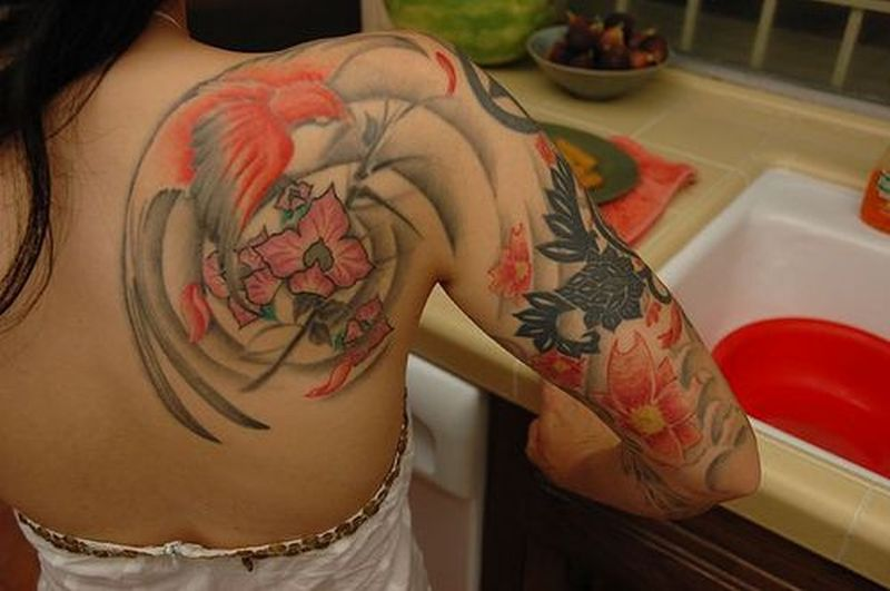 Mind blowing asian tattoo for girls