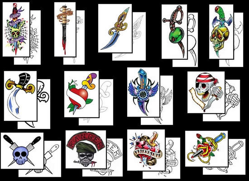 More dagger designs tattoo