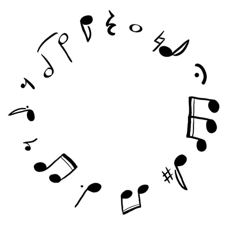 Music circle tattoo design