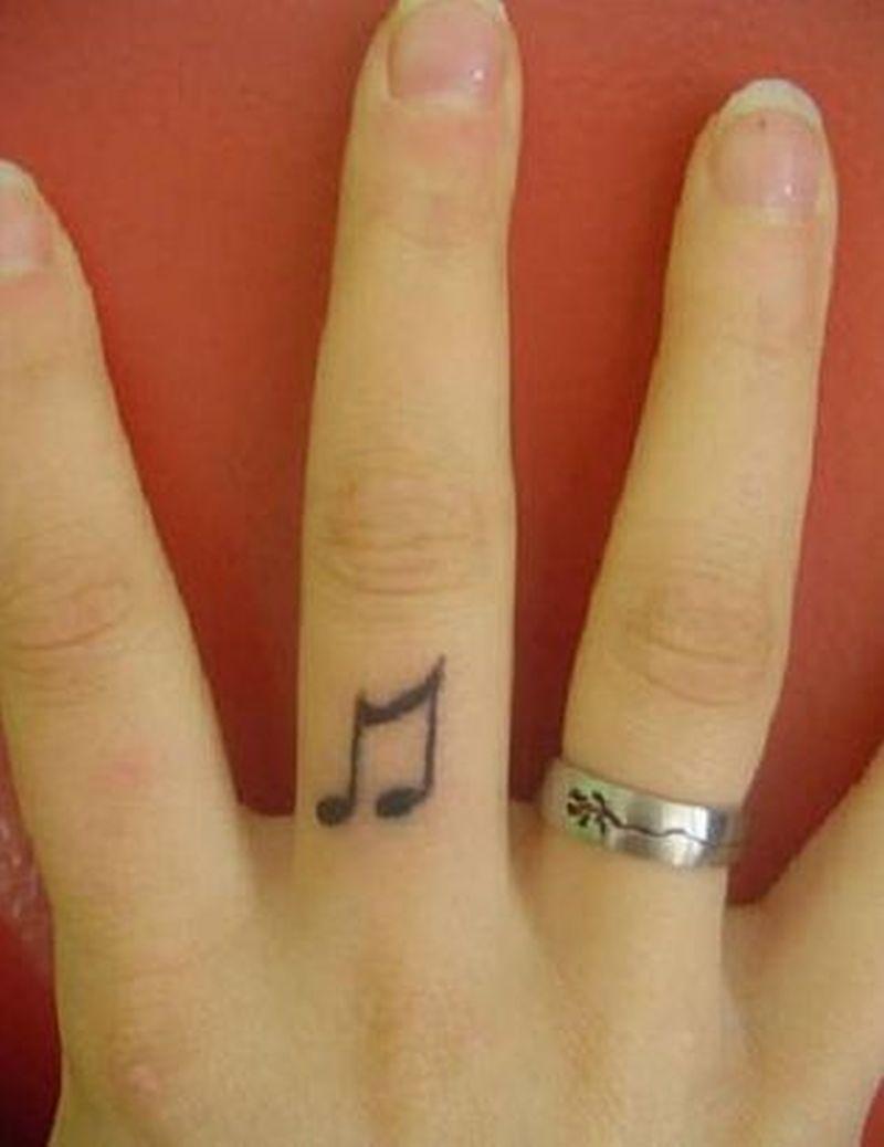 Music Symbol Tattoo On Finger Tattoos Book 65000 Tattoos Designs