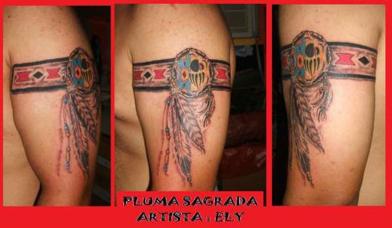 Native american feather armbands tattoo design