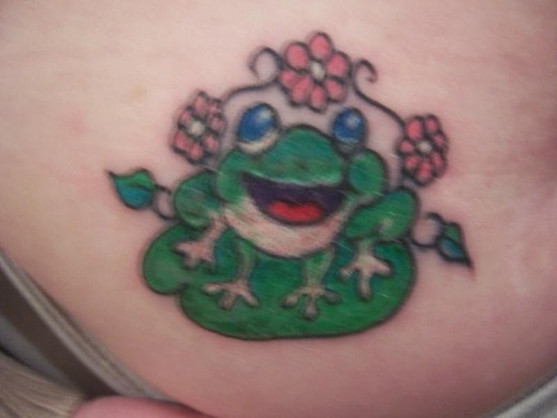 New frog tattoo design 3
