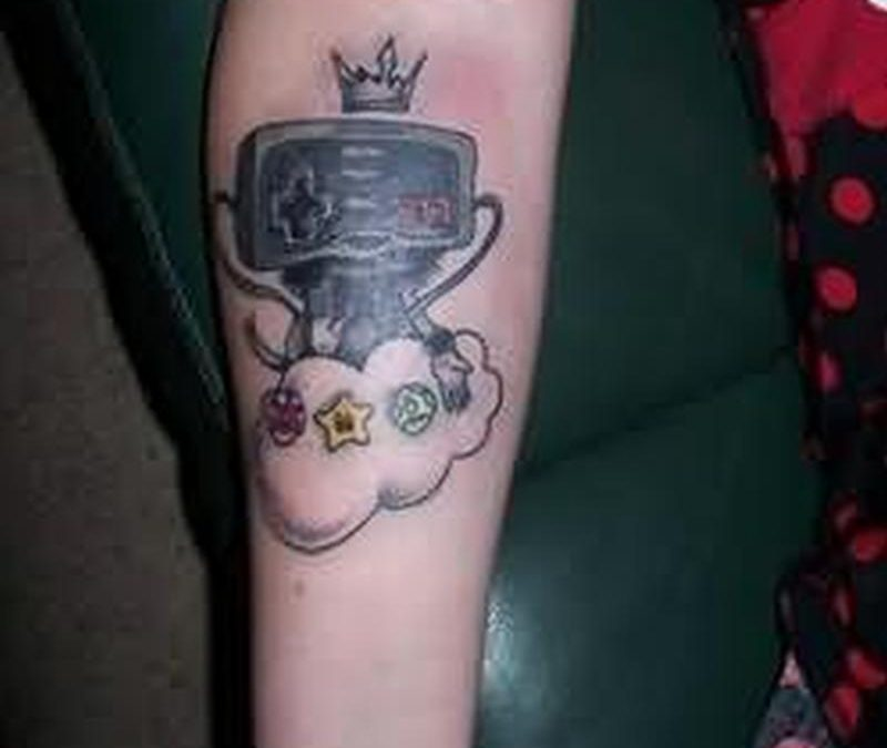 Nice geek tattoo on arm