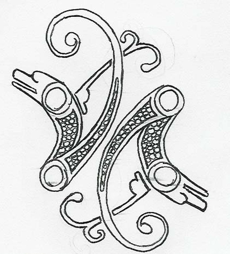 Norse dolphin design tattoo