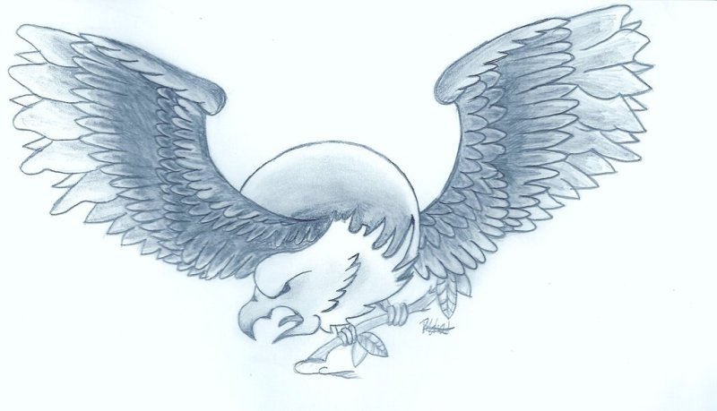 Oli sykes eagle tattoo design