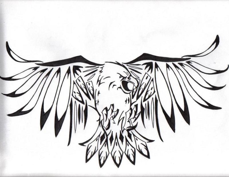 One more tribal eagle tattoo sample