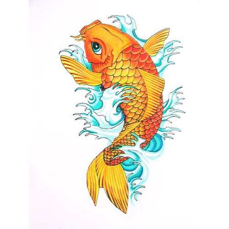 d61ff43e62045 Orange koi fish tattoo design 2 - Tattoos Book - 65.000 Tattoos Designs