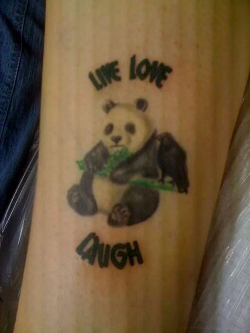 Panda bear tattoo design