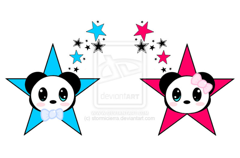 Panda face tattoo designs