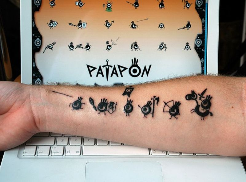 Patapon geeky tattoo design 2