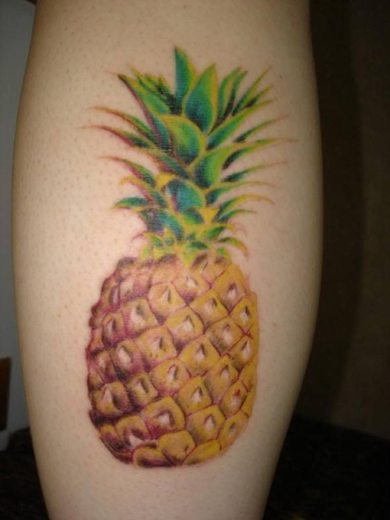 Pineapple design tattoo