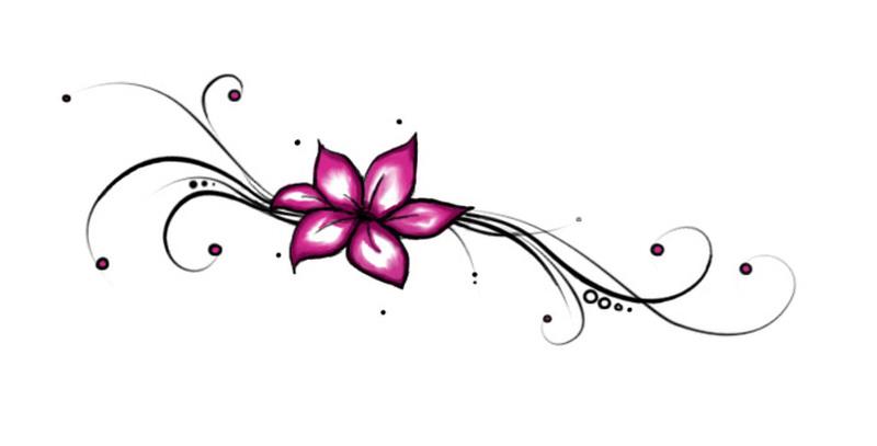 Pink flower tattoo sample