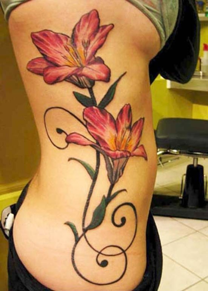 Pink Lily Flower Tattoo Tattoos Book 65000 Tattoos Designs