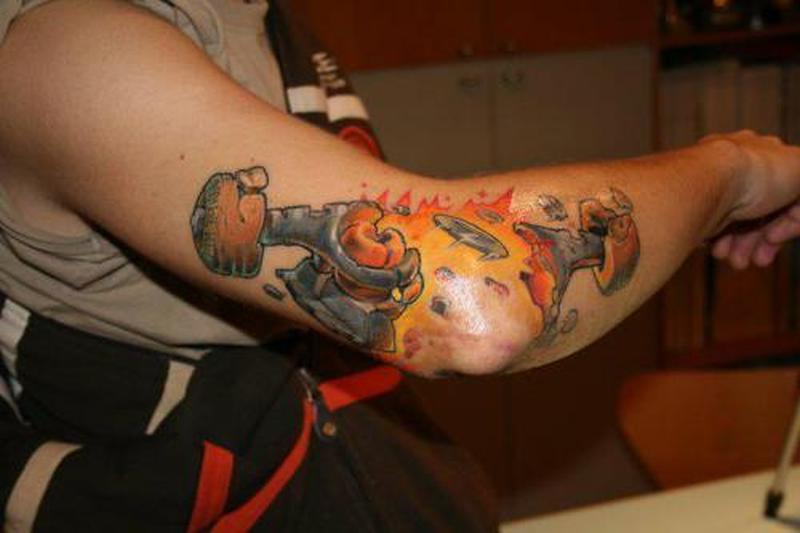 pistons tattoo on elbow tattoos book tattoos designs. Black Bedroom Furniture Sets. Home Design Ideas