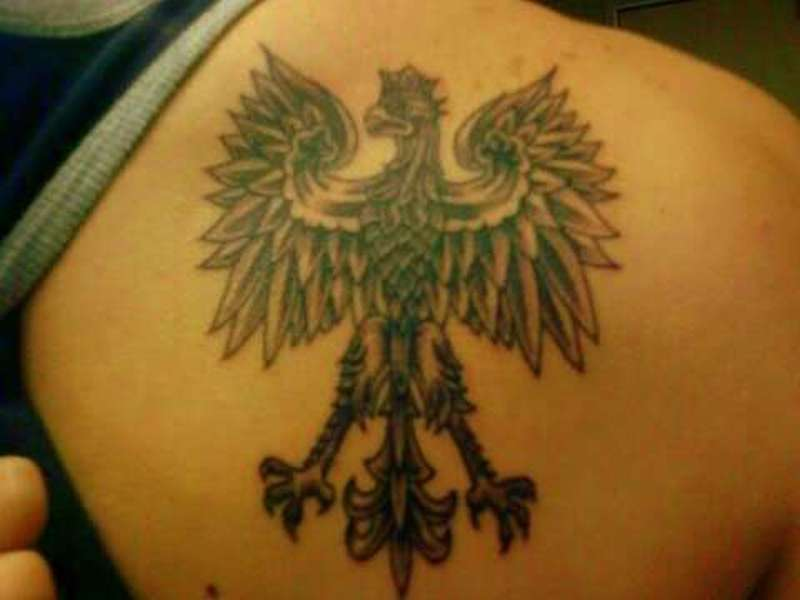 b955a5a4a934c Polish eagle tattoo design on back - Tattoos Book - 65.000 Tattoos ...