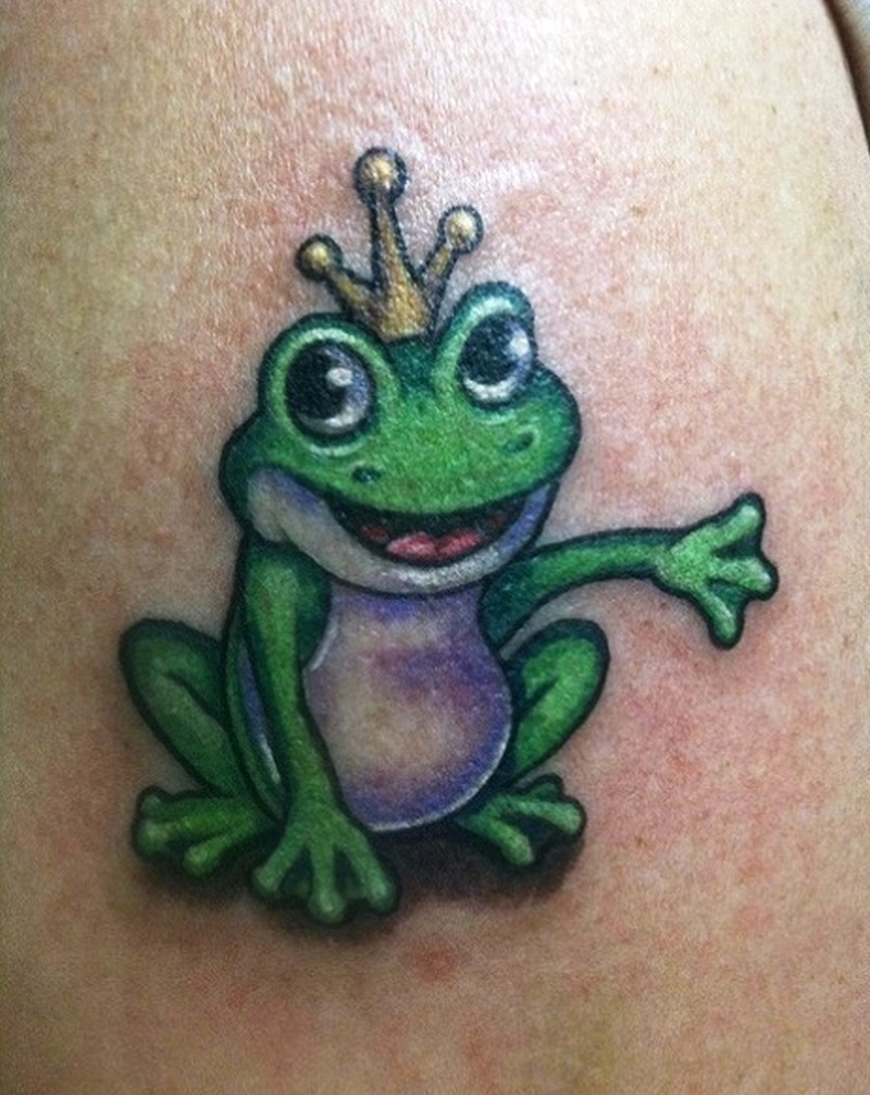Prince frog on arm tattoo