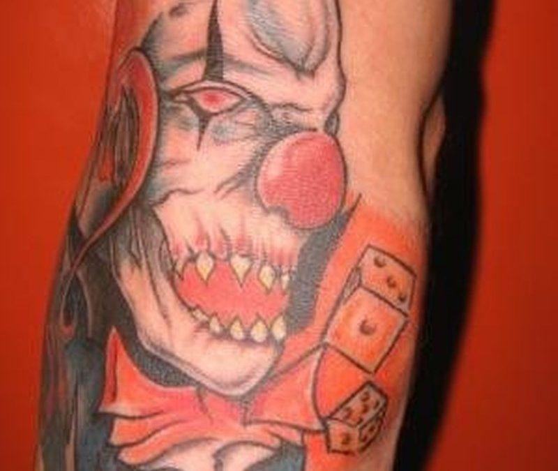 Psycho clown design 2 tattoo