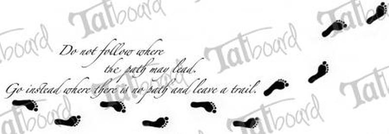 Quote n footprints tattoo design