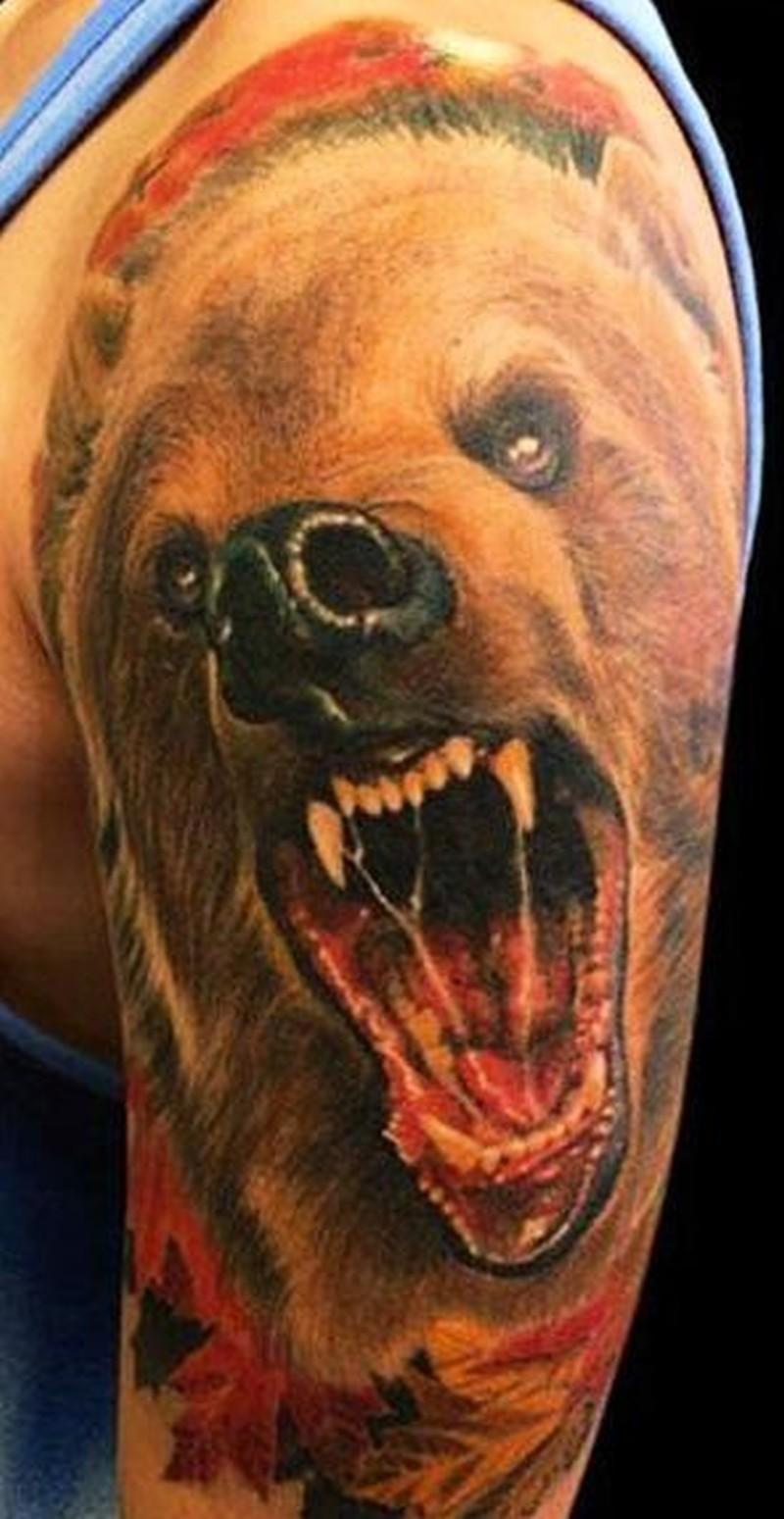 Значение тату с медведем на зоне
