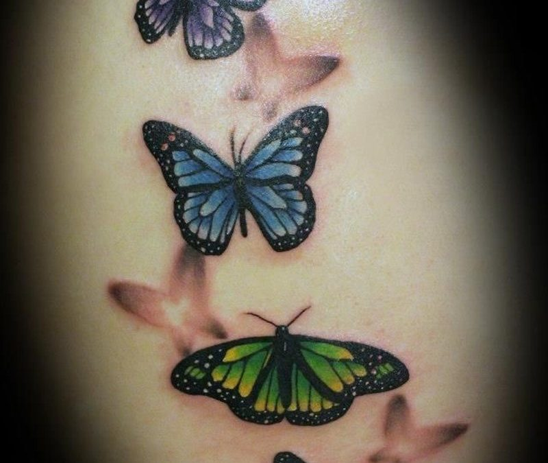 Realistic tattoo butterflies1