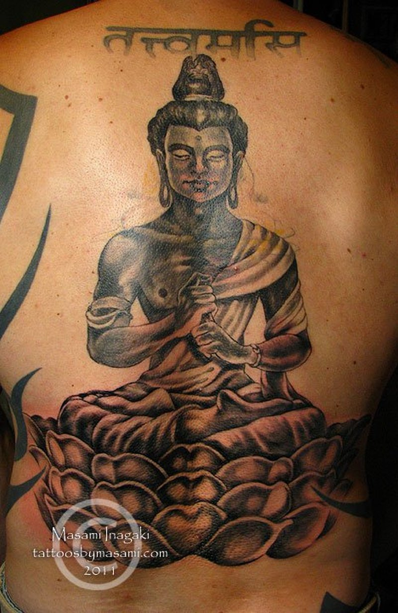 f8cd811e0 Religious buddhist on back for men tattoo - Tattoos Book - 65.000 ...