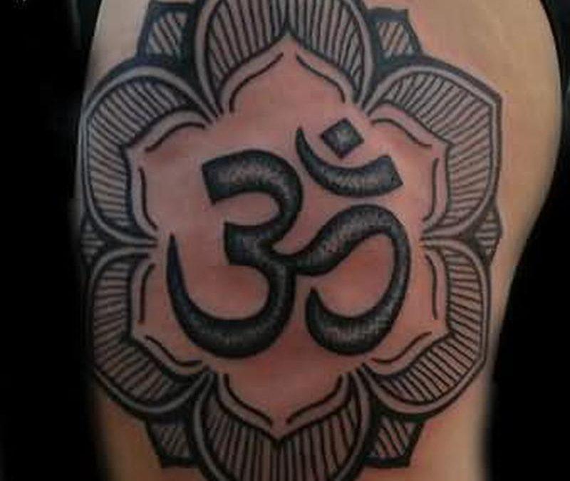 Religious hindu symbol tattoo design