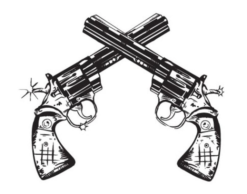Revolvers gun tattoo sample