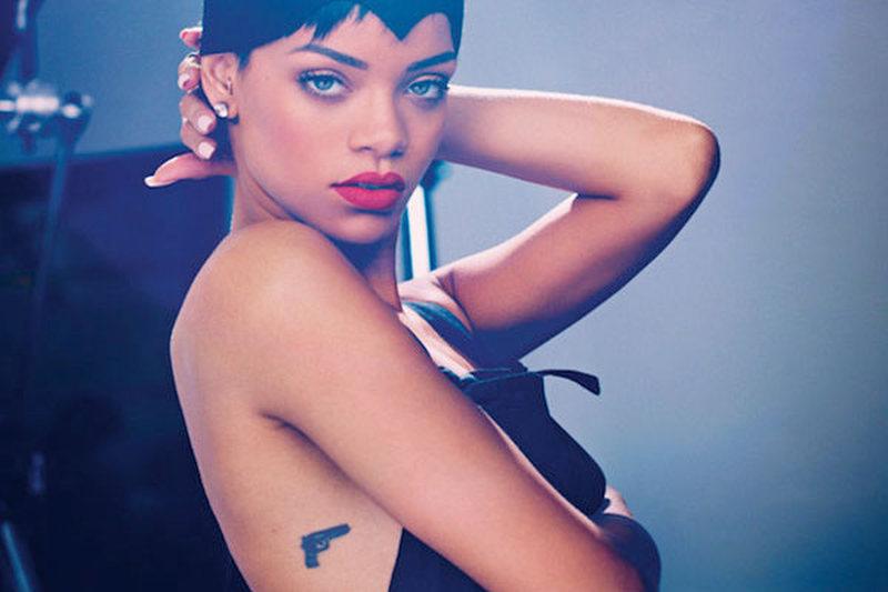 Rihanna gun tattoo design