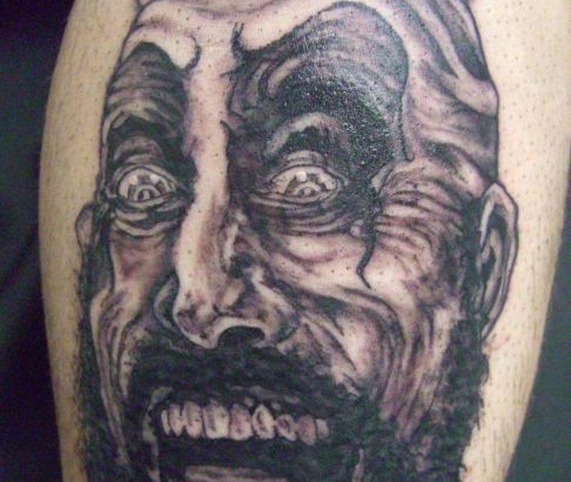Scary clown tattoo