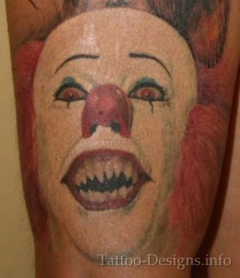 100 creepy clown tattoo idea tattoo 70 awesome clown tattoos 34 best evil faces tattoos. Black Bedroom Furniture Sets. Home Design Ideas