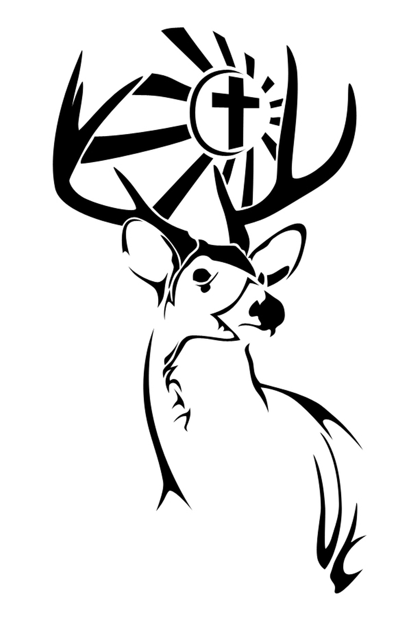 Sensational deer tattoo design