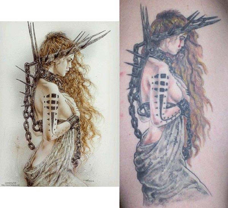 Sensuality n fantasy tattoo design