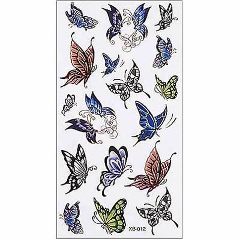 Set of butterflies tattoo designs